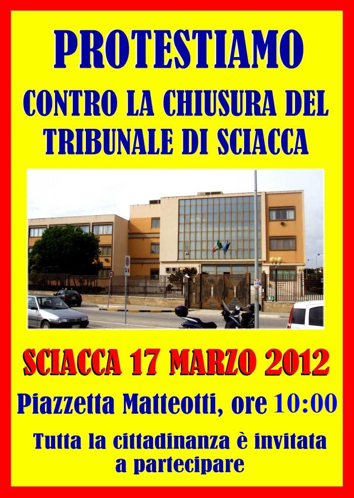 """<strong>Sciacca</strong>. """"No alla chiusura del tribunale"""". Manifestazione in difesa del Tribunale"""
