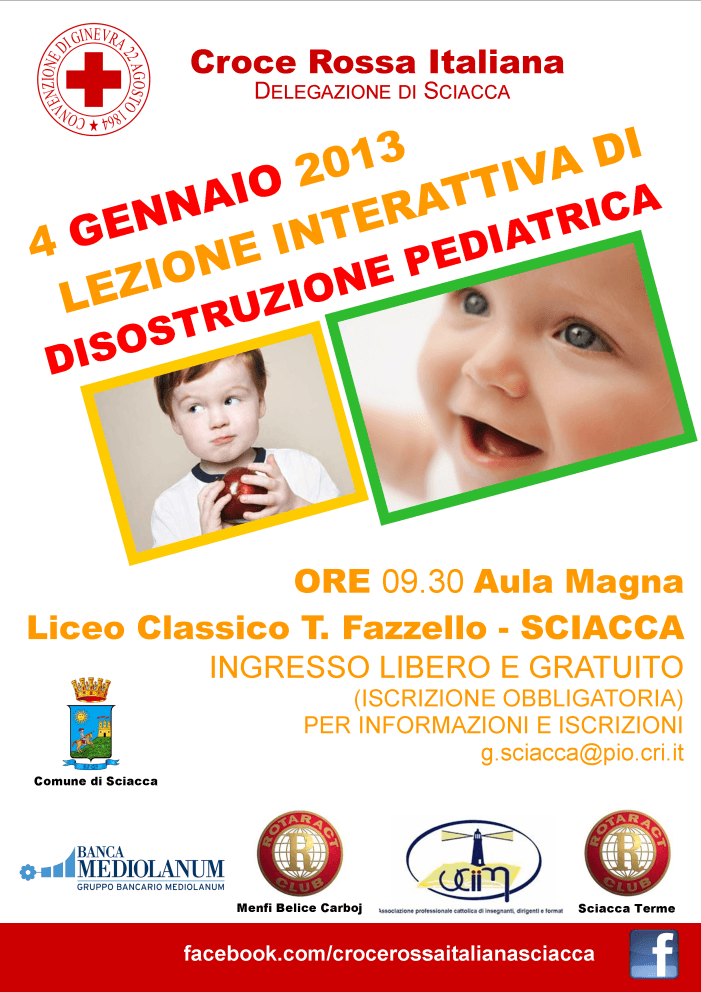 <strong>Sciacca</strong>. Lezione interattiva su Manovre di Disostruzione Pediatriche