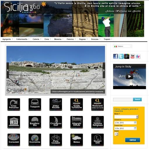 """Turismo a portata di clic, è on line il nuovo portale <strong>""""Sicilia 360""""</strong>"""