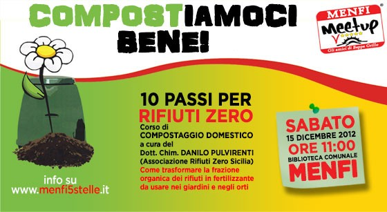 <strong>Menfi</strong>. Compostiamoci Bene! Corso di compostaggio domestico per tutti i cittadini