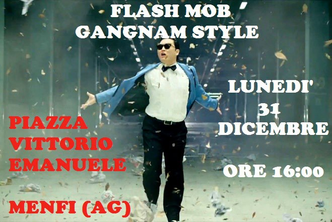 <strong>Flash Mob</strong> Gangnam Style a Menfi