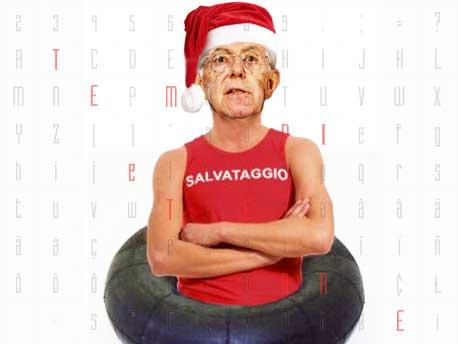 """<strong>Il Presepe coi Politici</strong>: Mario Monti, nel ruolo di """"Salva-Italia"""", escluso dalla grotta del Bambin Gesù"""