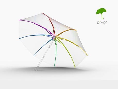 <strong>Ginkgo</strong>, ombrello flessibile e riciclabile 100%