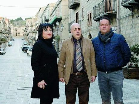 i candidati leghisti Santina Bausone, Giuseppe Scrivano e Rino D'Amico