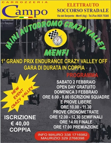 Menfi - Grand Prix Endurance Crazy Valley Off