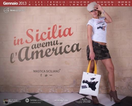 <strong>Calendario I Love Agrigento 2013</strong>, mese di gennaio con Nadia Quattrocchi