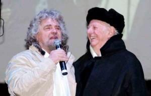 Beppe Grillo con Dario Fo
