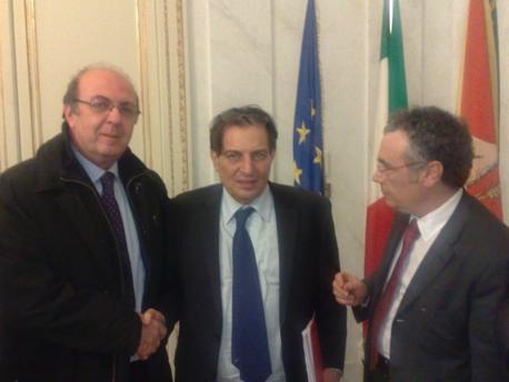 Da sinistra: Michele Botta, Rosario Crocetta, Nicolò Catania