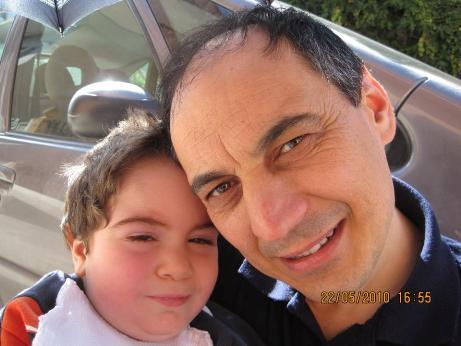 Francesco con il papà, Carlo Pendola