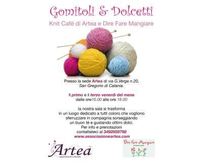 """3° appuntamento di """"Gomitoli e Dolcetti"""" Knit Cafè da <strong>Artea</strong>"""