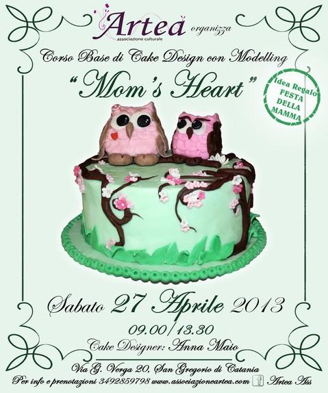 """Corso Base di Cake Design con Modelling <strong>Artea</strong> """"Mom's Heart"""""""