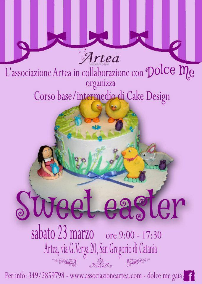 """Corso base/intermedio di cake design <strong>Artea</strong> """"Sweet Easter"""""""