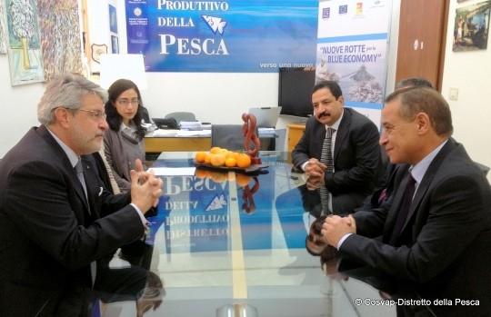 <strong>Palermo</strong>. Visita del Console del Marocco al Distretto della Pesca