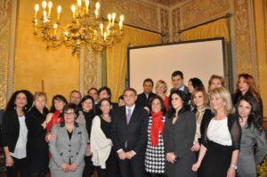 Le venti donne premiate dal presidente dell'Ars Giovanni Ardizzone