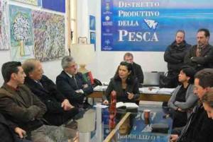 Boldrini incontra i pescatori del distretto