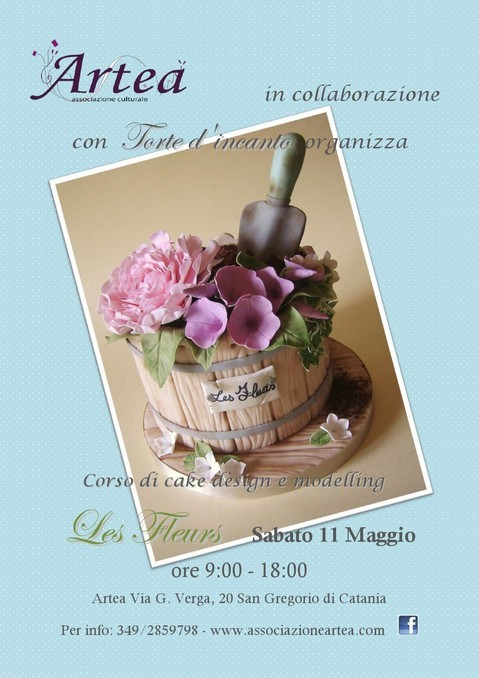 """Corso di Cake Design e Modelling <strong>Artea</strong> """"Les Fleurs"""""""