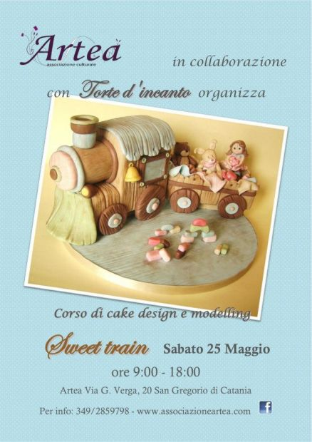 "Corso di Cake Design e Modelling <strong>Artea</strong> ""Sweet Train"""