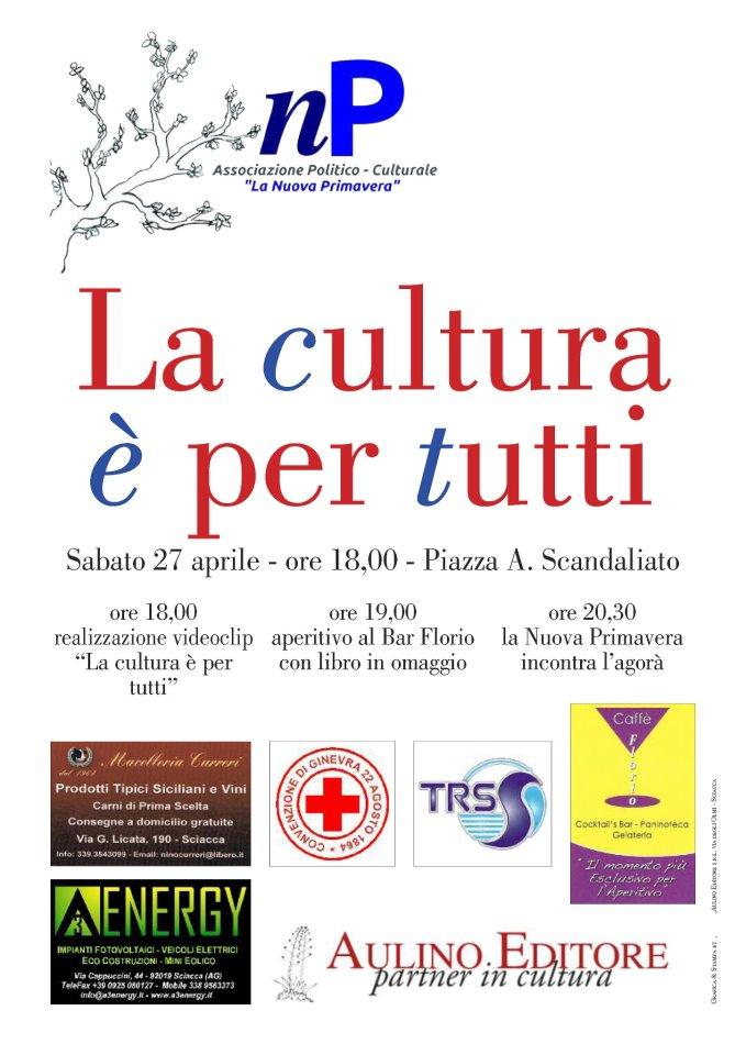"""<strong>""""La Cultura è per tutti""""</strong>: l'evento dell'associazione """"La Nuova Primavera"""""""