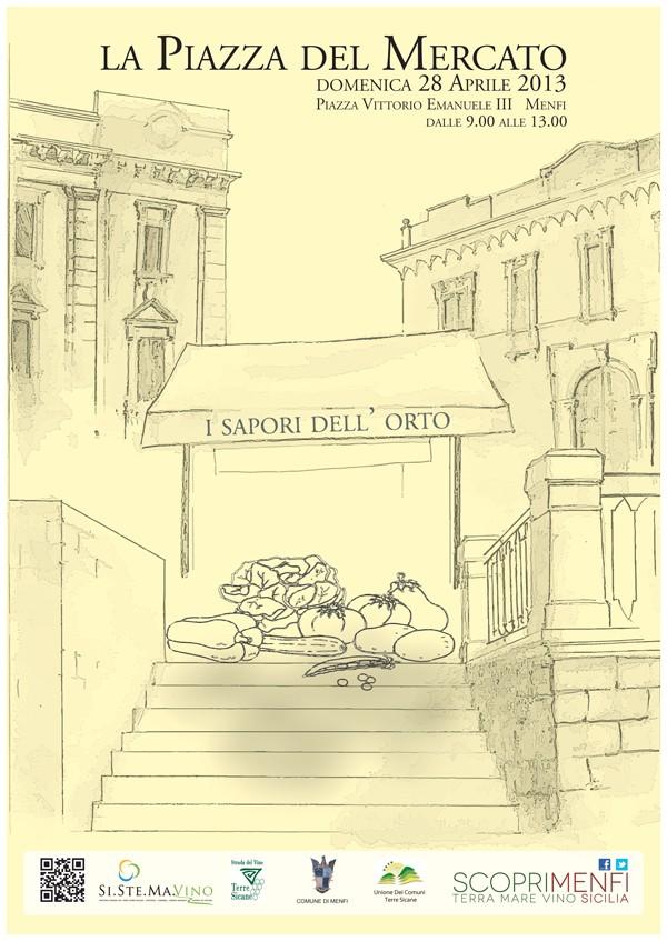 """<strong>ScopriMenfi</strong>. """"La Piazza del Mercato"""": I sapori dell'orto"""