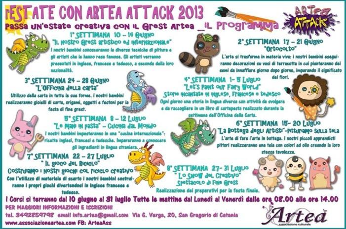 """<strong>Grest estivo</strong> """"rEstate con Artea Attack"""" 2013 – Il programma"""