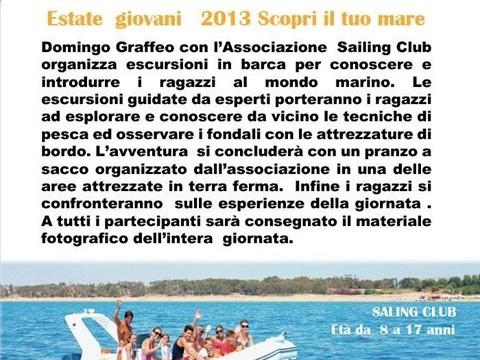 <strong>Menfi</strong>. Sailing Club &#8211; Estate giovani 2013. Scopri il tuo mare