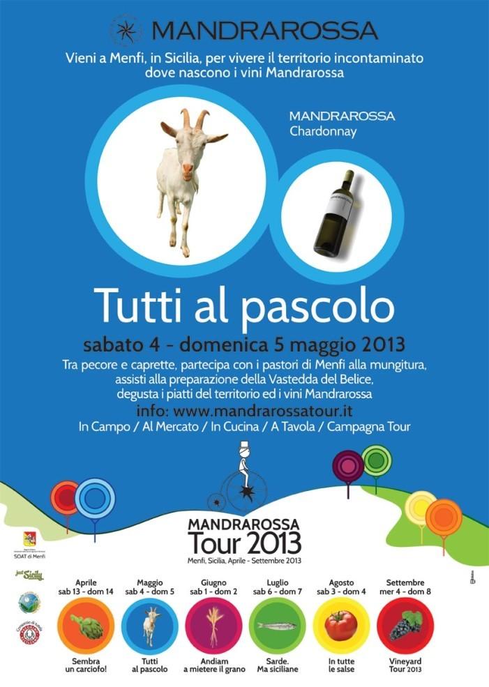 """Al <strong>Mandrarossa Tour</strong> con """"Tutti al Pascolo"""" continua il sublime viaggio enogastronomico nella terra di Menfi"""