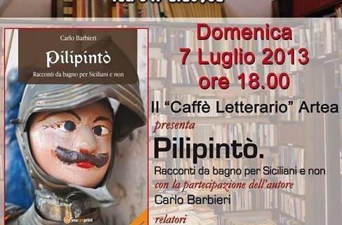 """Caffè Letterario <strong>Artea</strong> presenta """"Pilipinto' Racconti da bagno per Siciliani e non"""""""