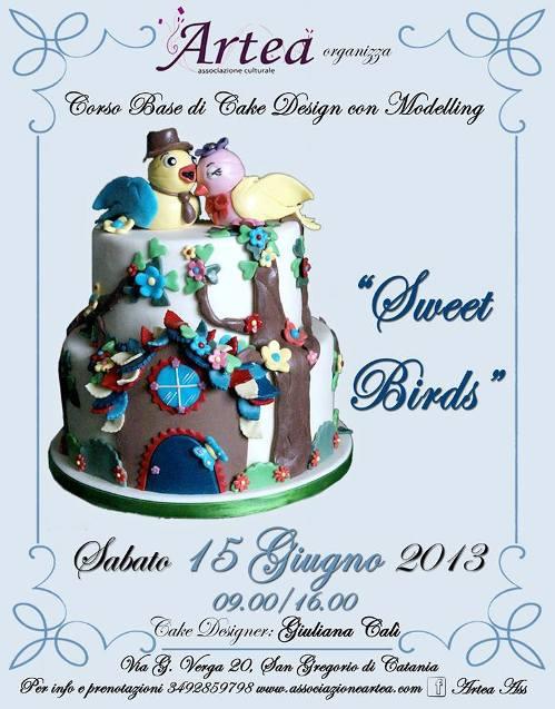 """Corso base di cake design e modelling <strong>Artea """"Sweet Birds""""</strong>"""
