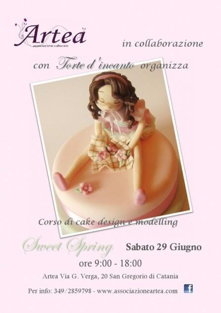 """Corso di Cake Design e Modelling <strong>Artea</strong> """"Sweet Spring"""""""