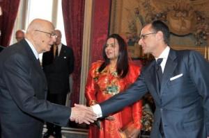 Da dx Il Console delle Maldive in Italia Luca Fiormonte in un recente incontro con il Presidente della Repubblica Giorgio Napolitano