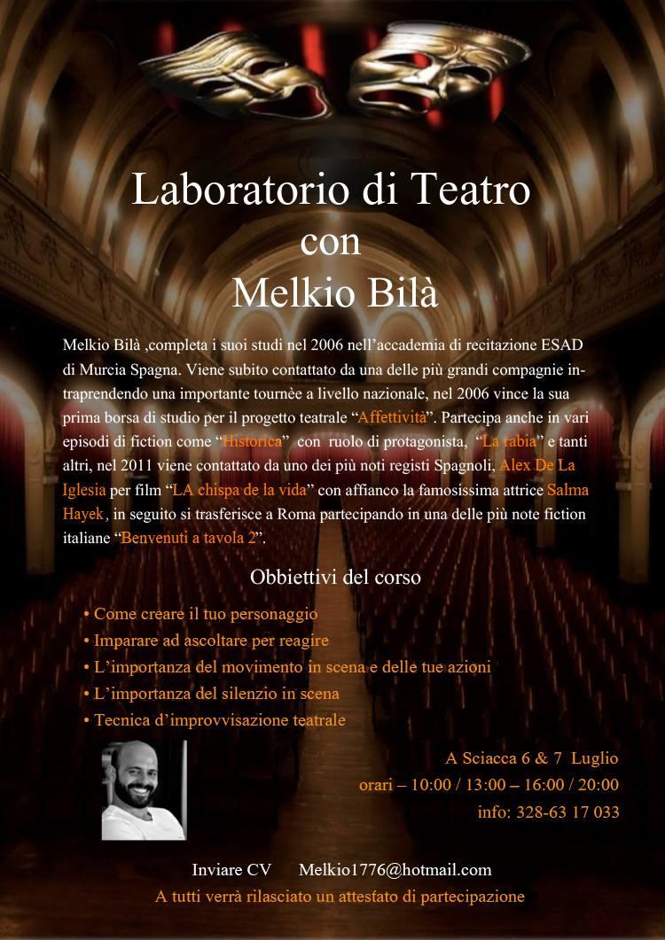 Corso di Teatro con Melkio Bilà
