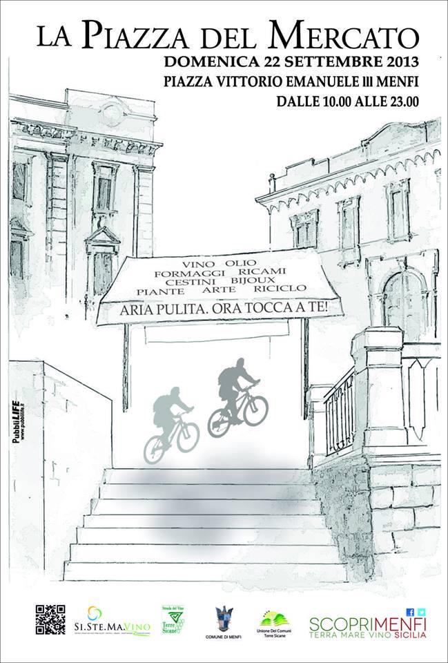 <strong>Menfi</strong>. La Piazza del Mercato e la mobilità sostenibile