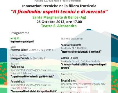 <strong>Santa Margherita Belice</strong>. Giornata informativa sul Ficodindia: Aspetti tecnici e di mercato