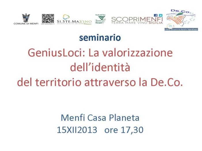 <strong>GeniusLoci De.Co.</strong> Sicilia presentazione a Menfi