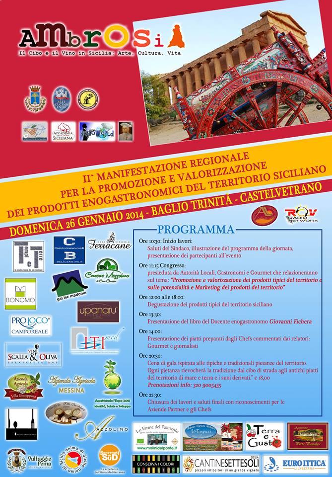 """<strong>""""Ambrosia""""</strong>, la Manifestazione Regionale che premia e valorizza l'enogastronomia Siciliana"""