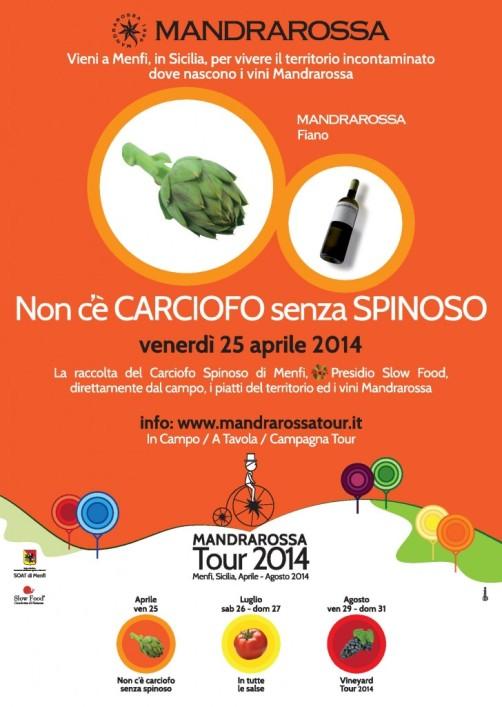 Non c'è carciofo senza spinoso, il 25 aprile di Mandrarossa Tour