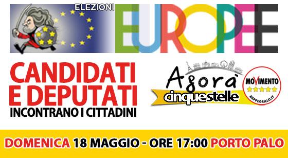 Menfi. Europee: Candidati e deputati M5S a Porto Palo di Menfi