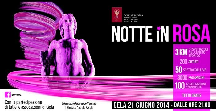 <strong>Gela</strong> vi aspetta per la Notte Rosa 2014