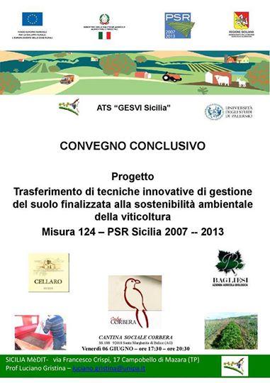 Da <strong>Cantina Corbera</strong>, domani, si parla di sostenibilità ambientale nella viticoltura