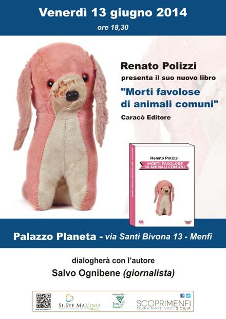 """<strong>Menfi</strong>: Presentazione del libro """"Morti favolose di animali comuni"""" di Renato Polizzi"""