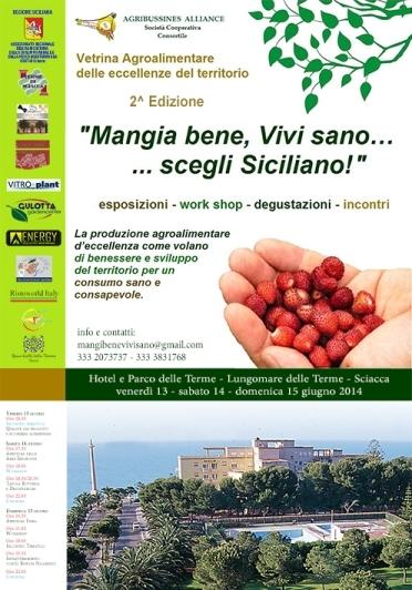 """Mangia bene, vivi sano… Scegli Siciliano"", Vertrina Agroalimentare a <strong>Sciacca</strong>"