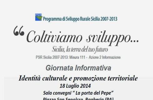 """Incontro sul tema: """"Identità culturale e promozione territoriale"""""""