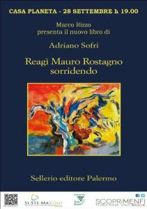 locandina Reagì Mauro Rostagno sorridendo - Adriano Sofri