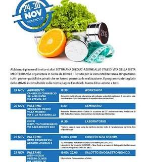 Ia settimana di <strong>Educ-Azione</strong> allo stile di vita della dieta mediterranea