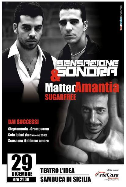 Sensazione Sonora e Matteo Amantia stasera in <strong>concerto a Sambuca</strong>