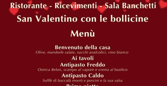 Menù per S. Valentino ed altri appuntamenti al <strong>Ristorante Bacco</strong>