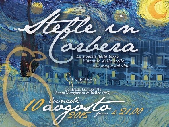 "Il 10 agosto ""Calici di Stelle"" con <strong>Cantina Corbera</strong>"