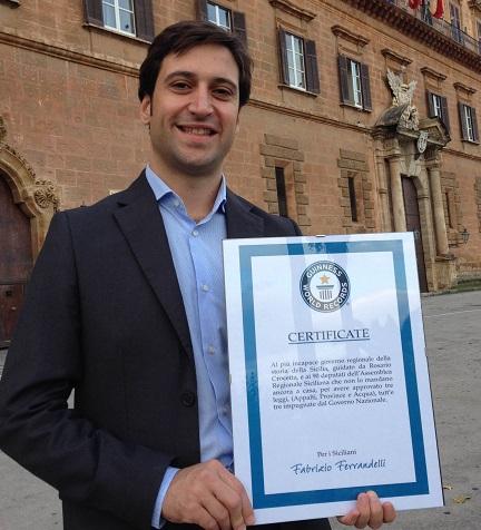 """Ferrandelli: """"Crocetta da Guinnes. Tre leggi impugnate dal Governo Renzi"""""""