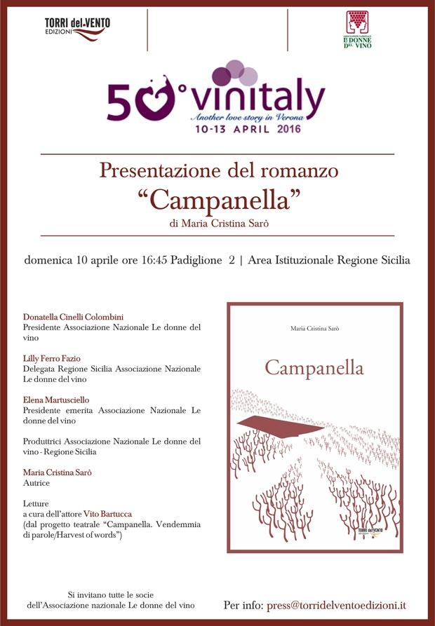 """Vinitaly 2016, presentazione del libro """"Campanella"""""""