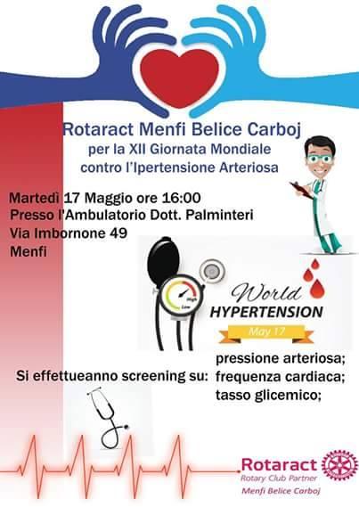 Giornata dell'ipertensione arteriosa, controlli gratuiti anche a Menfi